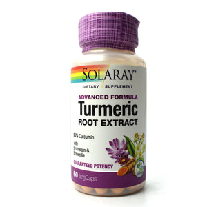 Advanced Formula Turmeric Root Extract - 60 Vegetarian Capsules