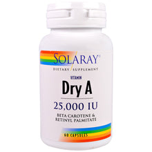 Load image into Gallery viewer, Vitamin Dry A 25000 IU - 60 Capsules
