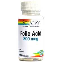 Load image into Gallery viewer, Folic Acid 800mcg- 100 Capsules