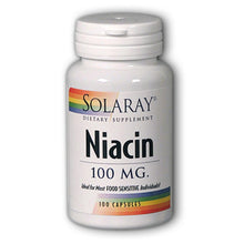 Load image into Gallery viewer, Niacin 100mg - 100 Capsules