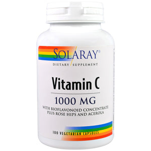 Vitamin C 1000mg with Bioflavonoid Concentrate Plus Rose Hips and Acerola - 100 Vegetarian Capsules