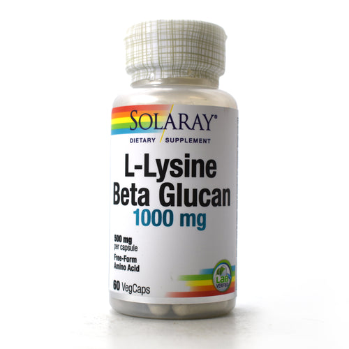 L-Lysine and Beta Glucan 1000 mg - 60 Capsules