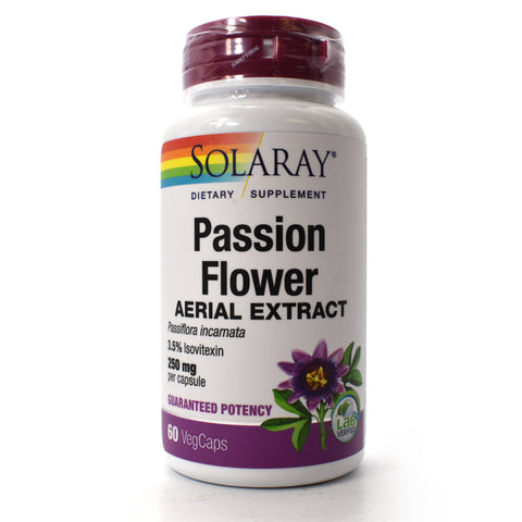Guaranteed Potency Passion Flower Extract 250mg - 60 Vegetarian Capsules
