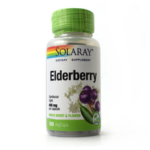 Load image into Gallery viewer, Elderberry 450 mg - 100 Vegetarian Capsules