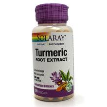 Load image into Gallery viewer, Guaranteed Potency Turmeric Root Extract 300 mg - 120 Capsules
