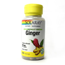 Load image into Gallery viewer, Organically Grown Ginger Root 540mg - 100 Vegetarian Capsules