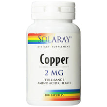 Load image into Gallery viewer, Copper 2mg - 100 Capsules