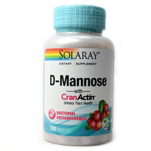 Load image into Gallery viewer, D-Mannose with CranActin - 120 Vegetarian Capsules