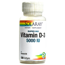 Load image into Gallery viewer, Super Bio D-3 in Organic Coconut Oil - 5000 IU - 120 Softgels