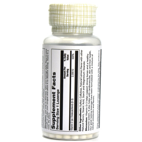 Vitamin D3 2000 IU Lemon Flavor - 60 Lozenges