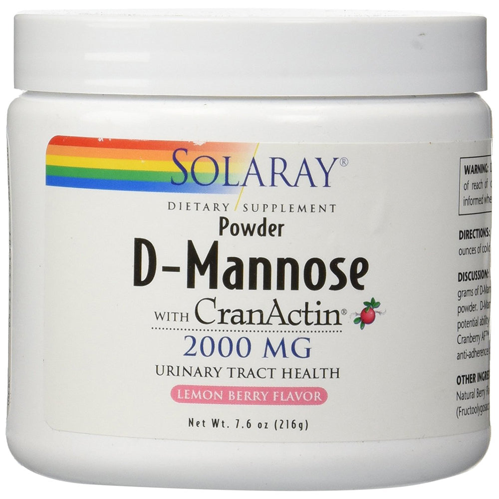 D-Mannose with CranActin - Lemon Berry Flavor - 7.6 oz
