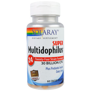 Super Multidophilus 24 Strain Probiotic 30 Billion CFU - 60 Vegetarian Capsules