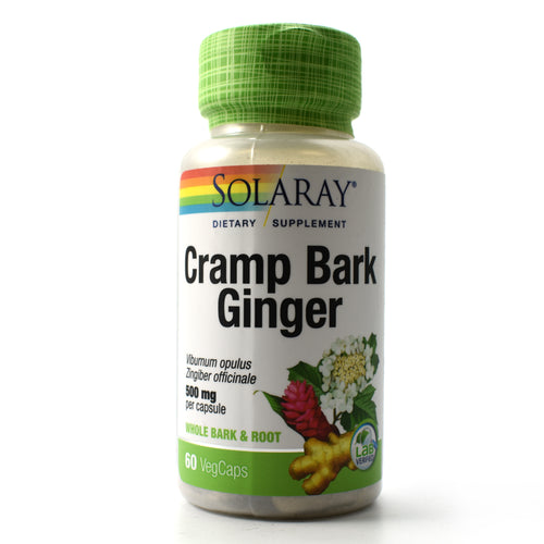 Cramp Bark & Ginger 500mg - 60 Vegetarian Capsules