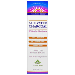 Activated Charcoal Toothpaste - Fresh Mint - 5.1 oz