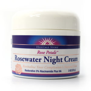 Rose Petals Rosewater Night Cream - 2 oz