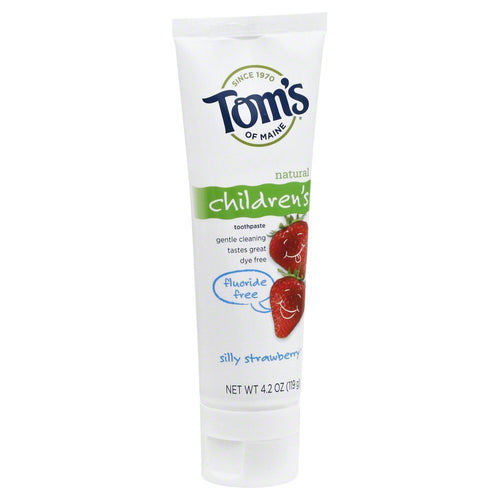Tom's of Maine Natural Fluoride Free Toothpaste for Children, Silly Strawberry - 4.2 oz