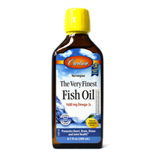 Load image into Gallery viewer, The Very Finest Norwegian Fish Oil Liquid Omega-3's DHA & EPA Lemon Flavor - 6.7 oz