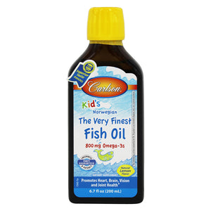 For Kids The Very Finest Norwegian Fish Oil Great Lemon Flavor - 6.7 oz.