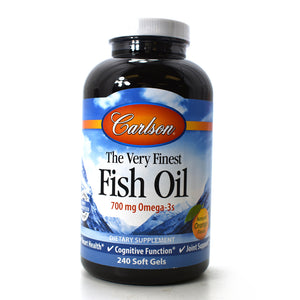 The Very Finest Fish Oil 700 mg Omega-3s Natural Orange Flavor - 240 Softgels