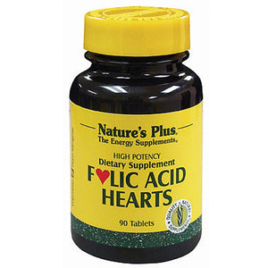 Folic Acid Hearts - 90 Tablets