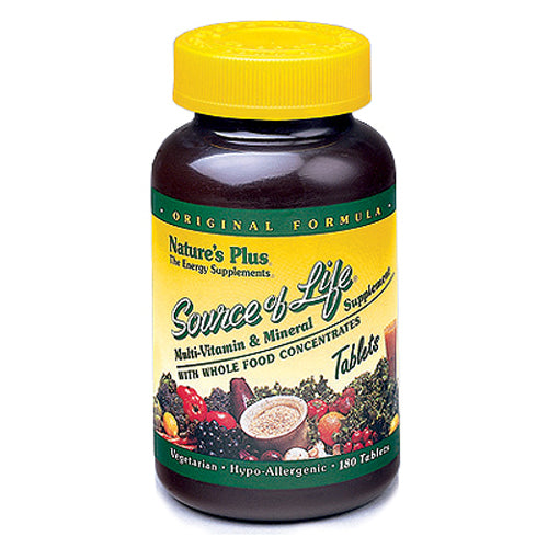 Source Of Life Multi-Vitamin & Mineral with Whole Food Concentrates - 180 Tablets