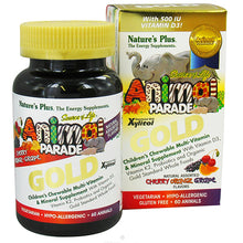 Load image into Gallery viewer, Animal Parade Gold Children's Chewable Multi-Vitamin & Mineral Natural Assorted Flavors - 60 Chewable Tablets
