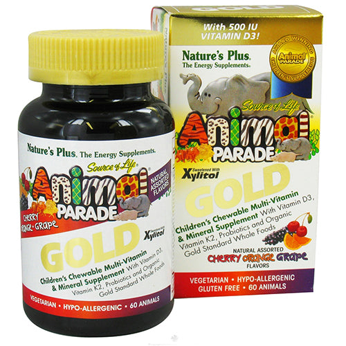 Animal Parade Gold Children's Chewable Multi-Vitamin & Mineral Natural Assorted Flavors - 60 Chewable Tablets