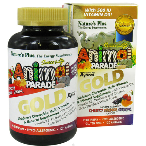 Animal Parade Gold Children's Chewable Multi-Vitamin & Mineral Natural Assorted Flavors - 120 Chewable Tablets