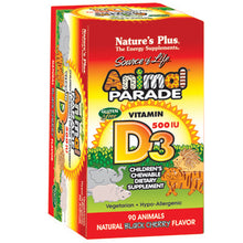 Load image into Gallery viewer, Animal Parade Children's Vitamin D3 500 IU Chewable - 90 Chewable Tablets