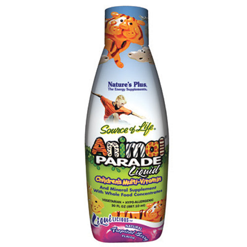 Animal Parade Children's Multi Vitamin & Mineral Tropical Berry Flavor - 30 oz Liquid