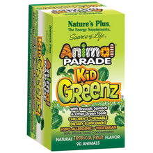 Load image into Gallery viewer, Animal Parade KidGreenz Chewable Tropical Fruit Flavor - 90 Chewable Tablets
