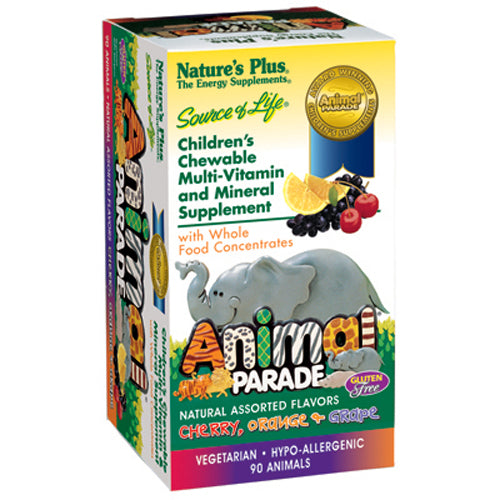 Animal Parade Children's Multi Vitamin & Mineral Assorted Flavor - 90 Chewable Tablets