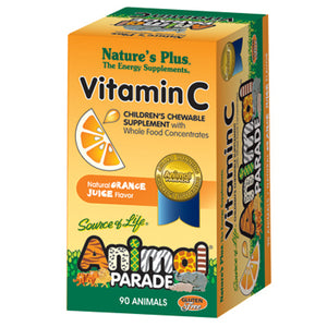 Animal Parade Chewable Vitamin C Orange Juice Flavor - 90 Chewable Tablets