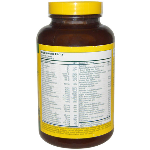 Source Of Life Multi-Vitamin & Mineral No Iron - 180 Vegetarian Tablets