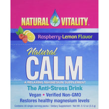 Load image into Gallery viewer, Natural Calm Drink Powder Raspberry - 30 Packets