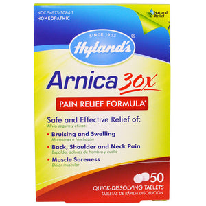 Arnica 30X Pain Relief Formula - 50 Tablets