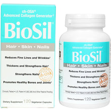 Load image into Gallery viewer, BioSil cH-OSA Advanced Collagen Generator 5 mg - 120 Vegetarian Capsules