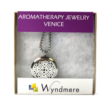 Load image into Gallery viewer, Aromatherapy Jewelry Necklace with 6 Refill Pads - Stainless Steel VENICE Pendant and Chain