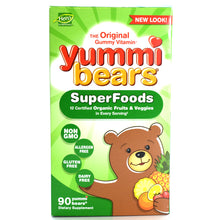 Load image into Gallery viewer, Yummi Bears Children's Vitamins Wholefood & Antioxidants - 90 Gummies