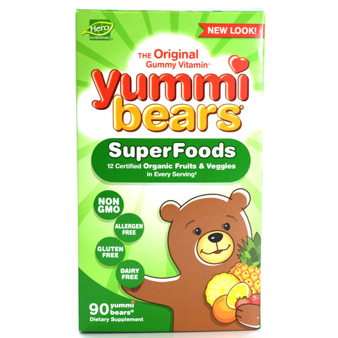 Yummi Bears Children's Vitamins Wholefood & Antioxidants - 90 Gummies