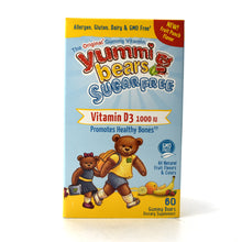 Load image into Gallery viewer, Yummi Bears Children's Vitamin D Sugar Free - 60 Gummies