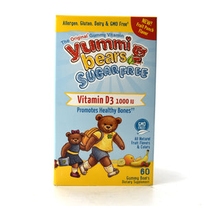 Yummi Bears Children's Vitamin D Sugar Free - 60 Gummies
