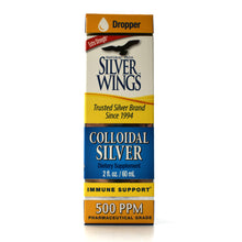 Load image into Gallery viewer, Silver Wings Colloidal Silver 500 ppm - 2 oz