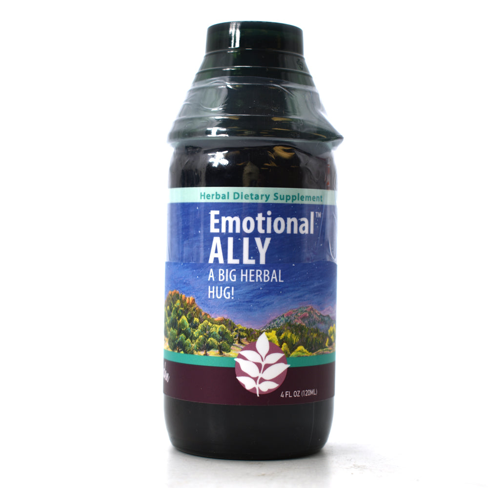 WishGarden Herbs — Emotional Ally Herbal Formula — Gluten Free — 4 oz Jigger Top