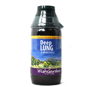 WishGarden Herbs — Deep Lung Herbal Formula — Gluten Free — 4 oz Jigger Top