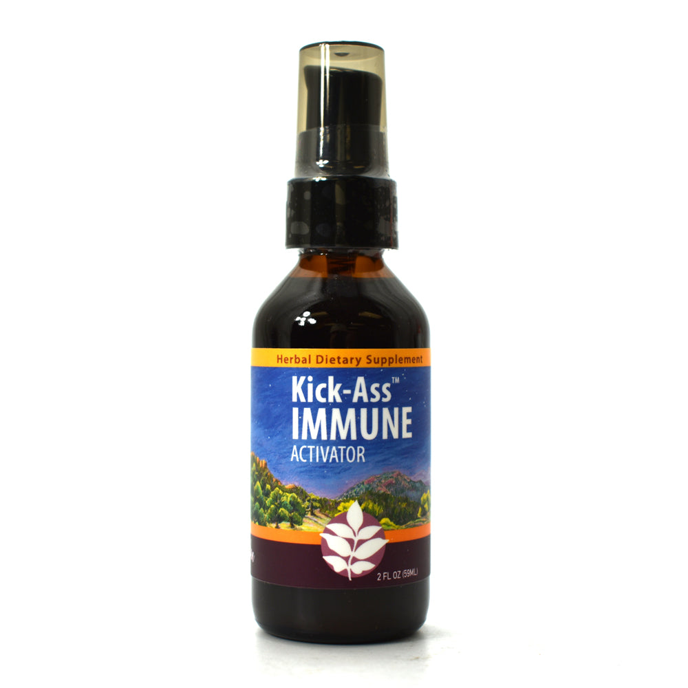 WishGarden Herbs — Kick Ass Immune Herbal Formula — Gluten Free — 2 oz Pump Top