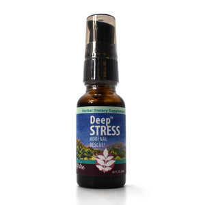 WishGarden Herbs — Deep Stress Herbal Formula — Gluten Free — 20 ml Pump Top