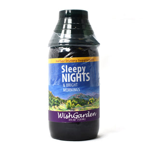WishGarden Herbs — Sleepy Nights Herbal Formula — Gluten Free — 4 oz Jigger Top