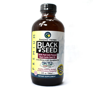 Premium Black Seed Cold-Pressed Oil - 8 Ounce