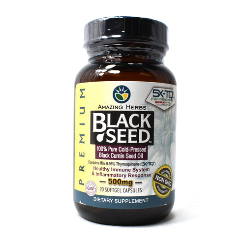 Premium Black Seed Oil - 500 mg - 90 Softgels